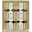 Giftmaker 10 Christmas Crackers Cream & Gold