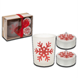 Snow White Set of 3 Christmas Candles