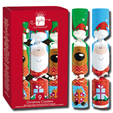 Giftmaker 9 Mini Christmas Crackers Santa Friends