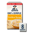 Quaker Oats So Simple Golden Syrup 8 Sachets 288g