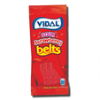 Vidal Gomas Sour Strawberry Belts 100g