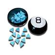 Boston America Magic 8 Ball Blue Raspberry Fortune Candies 105g