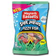 Maynards Bassetts Jellies Fizzy Fish Sweets Bag 160g