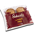 Stobart's Pork Pie Large 4 Pack 300g