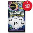 Illooms 5 Halloween Ghost Light Up Balloons