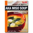 S&B Aka Miso Soup With Japanese Crouton & Seaweed & Green Onion 30g