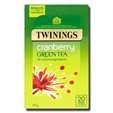Twinings Green Tea Cranberry 20'S