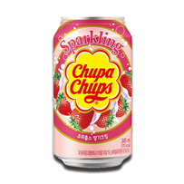 Chupa Chups Sparkling Soda Strawberry & Cream Flavour 345ml