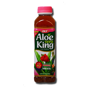 OKF Aloe Vera King Raspberry Drink 500ml