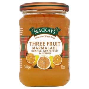 Mackays Three Fruit Marmalade 340g