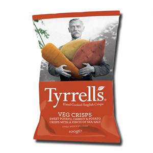 Tyrrell's Veg Crisps Sw Potato, Carrot & Potato 100g