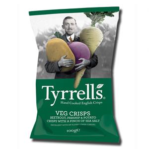 Tyrrell's Veg Crisps Beetroot, Parsnip & Potato 100g