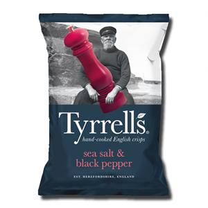 Tyrrell's Sea Salt & Black Pepper 150g