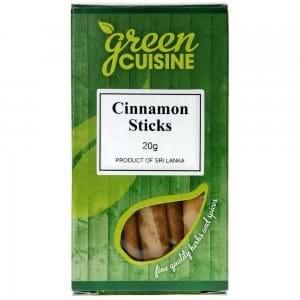 Green Cuisine Cinnamon Sticks 20g