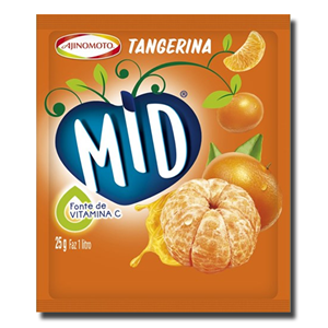 Mid Tangerina Pó Refresco 25g