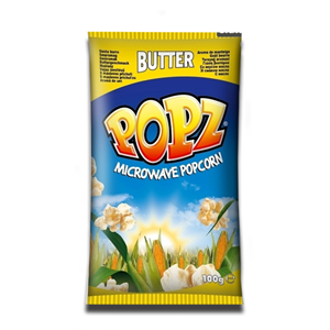 Popz Microwave Popcorn with Butter 90g