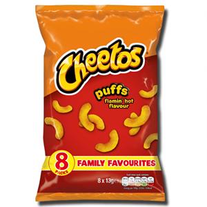 Cheetos Flamin' Hot Puffs 8x13g