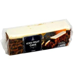 Iceland Top Iced Fruit Cake bar 400g