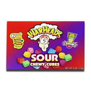 Warheads Chewy Cubes Box 113g