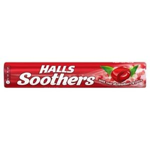 Halls Soothers Strawberry Juice 45g