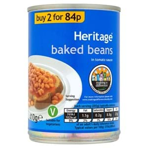 Heritage Baked Beans 410g