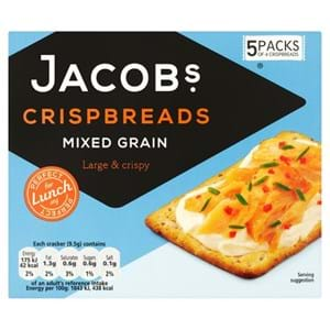 Jacob's Crispbreads Mixed Grain 5's 190g