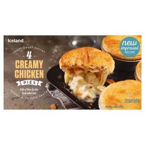 Iceland Creamy Chicken Pies 4's 568g