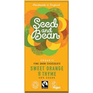 Seed and Bean Dark Chocolate 58% Orange Thyme 85g