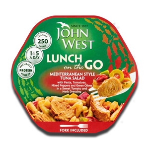 John West Light Lunch Mediterranean Tuna 220g