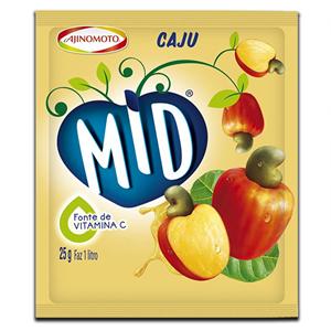 Mid Cajú Pó Refresco 25g