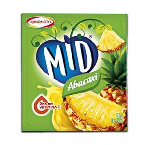 Mid Abacaxi Pó Refresco 25g