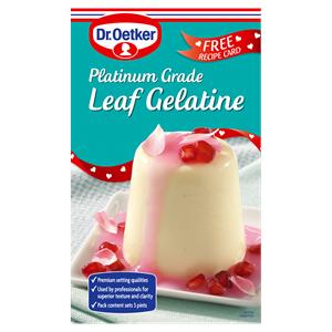 Dr. Oetker 8' Platinum Grade Leaf Gelatine 13g