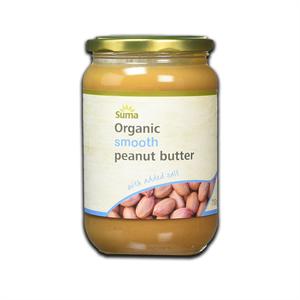 Suma Organic Unsalted Smooth Peanut Butter 340g