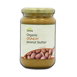 Suma Organic Unsalted Crunchy Peanut Butter 340g