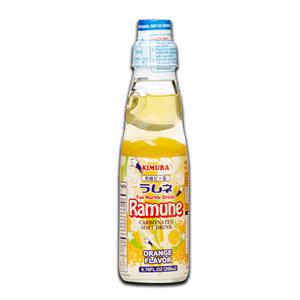 Ramune Japanese Soft Drink Orange 200ml