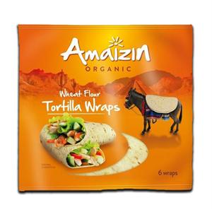 Amaizin Organic Wheat Flour Tortilla Wraps 6's 240g