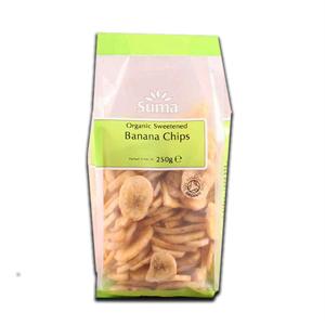Suma Banana Sweetened Chips 250g
