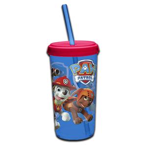 Stor Paw Patrol Plastic Cup Straw