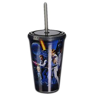 Stor Star Wars Plastic Cup Straw