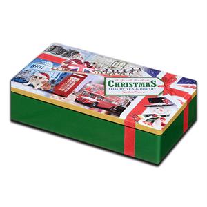 A Great British Christmas Cookies and Tea Tin