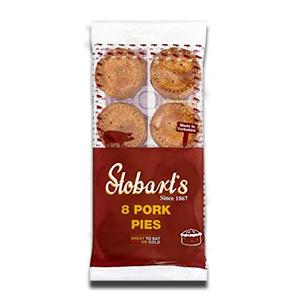 Stobart's 8 Pork Pies 600g
