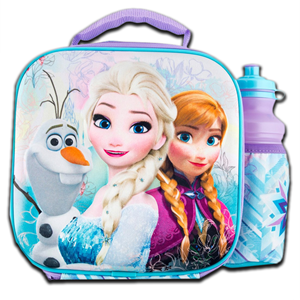 Disney 3D Frozen Lunch Bag and Bottle
