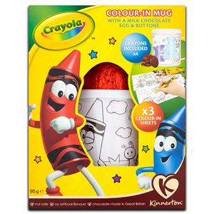 Kinnerton Crayola Creativity Set & Milk Chocolate Egg 45g