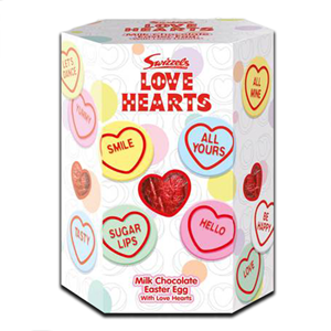 Swizzels Love Hearts & Chocolate Egg 153g