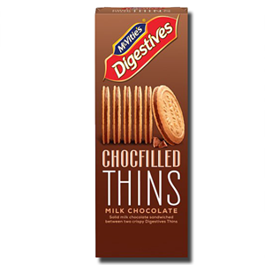 McVitie's Digestives Chocfilled Thins Milk Choc 130g
