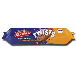 McVitie's Digestives Twists Choc Chip Caramel Bits 276g
