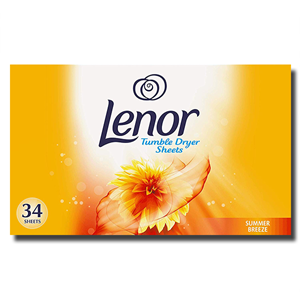 Lenor Tumble Summer Breze Dryer Sheets 34