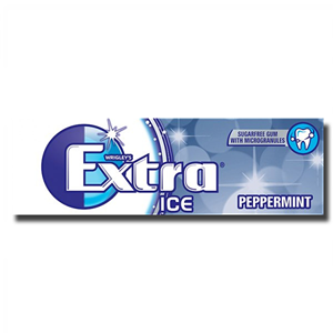 Wrigley's Extra Ice Peppermint Sugar Free 14g