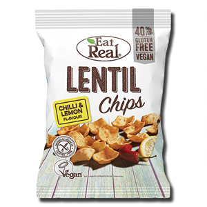 Eat Real Lentil Chips Chilli & Lemon 113g