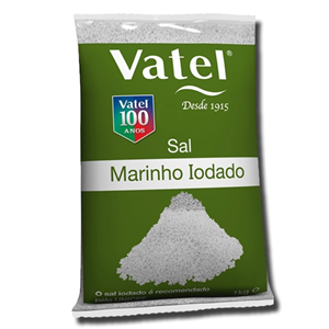 Vatel Sal Marinho Iodado 1kg